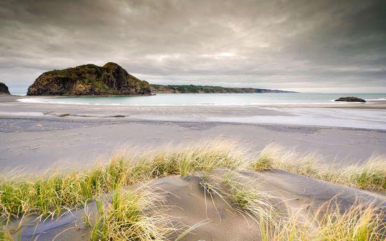 Фото бесплатно песок, пляжи, облака