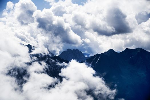 Photo free space, mountains, height