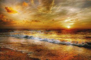 Заставки henne strand, солнце, дания