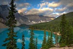 Photo free Lake Moraine, lake, landscape