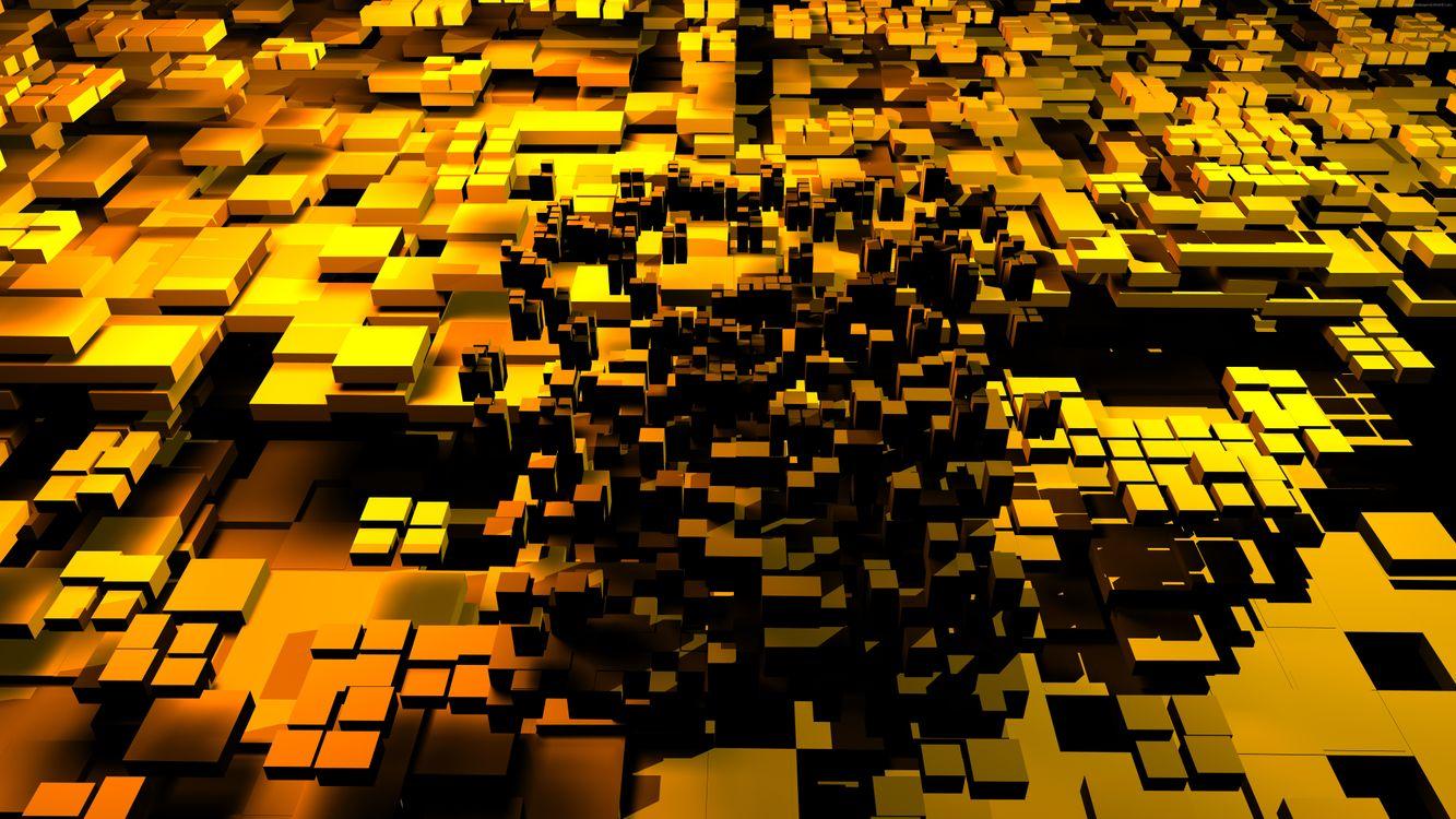 Фото бесплатно кубы, текстура из кубов, уровни - на рабочий стол