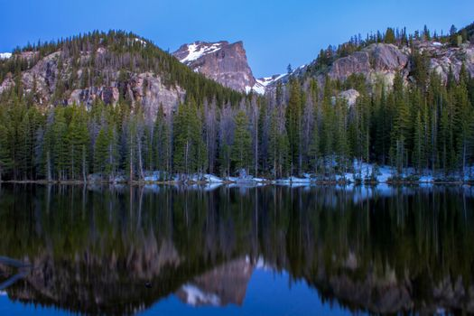 Nymph Lake in the Rocky Mountains · free photo