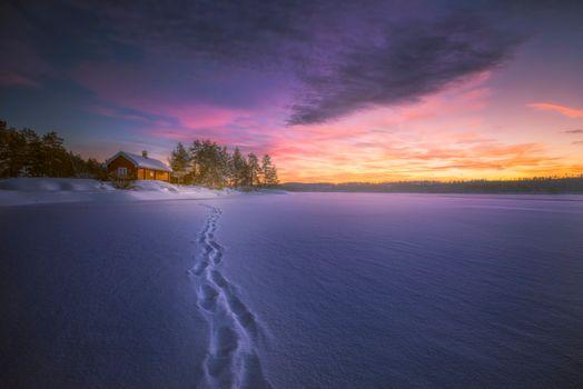 Фото бесплатно Norway, зима, домик