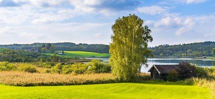 Бесплатные фото природа,Пастбище,поле,небо,ферма,Сельская местность,луг