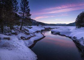 Фото бесплатно природа, горы, зима