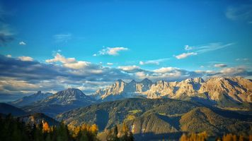 Photo free the Dachstein glacier, the mountains of Austria, Ramsau