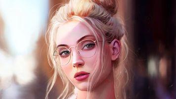 Фото бесплатно девушки, портрет, художник