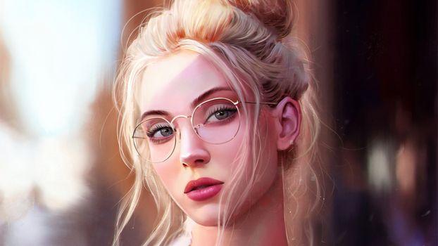 Photo free girls, portrait, artist