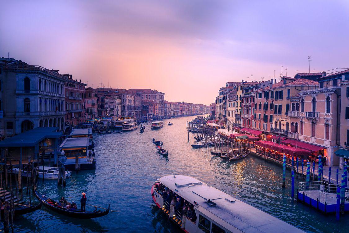 Фото бесплатно Grand Canal, Венеция, Италия, канал, дома, город, закат, город