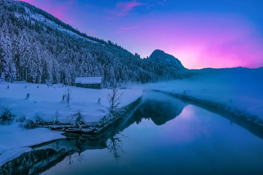 Фото бесплатно зима, ночь, сияние
