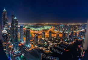 Заставки ОАЭ, ночь, город