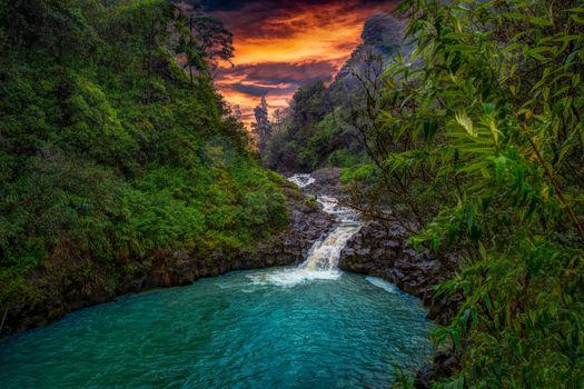 Фото бесплатно Maui, Гавайи, речка