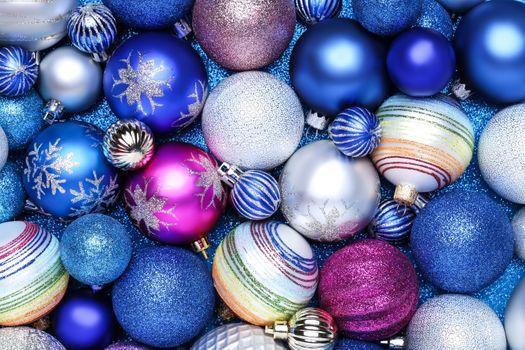 Фото бесплатно текстура, шарики, рождественские украшения