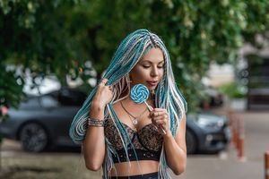 Бесплатные фото фотопортрет,незнакомка с косичками,сексуальная девушка,beauty,сексуальная,молодая,богиня
