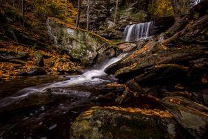 Заставки водопад, Рикеттс Glen State Park, в Пенсильвании