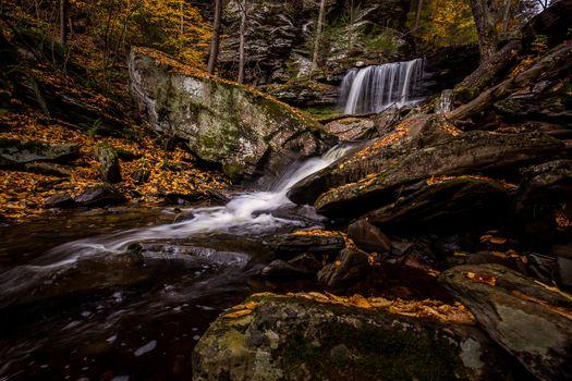 Фото бесплатно водопад, Рикеттс Glen State Park, в Пенсильвании