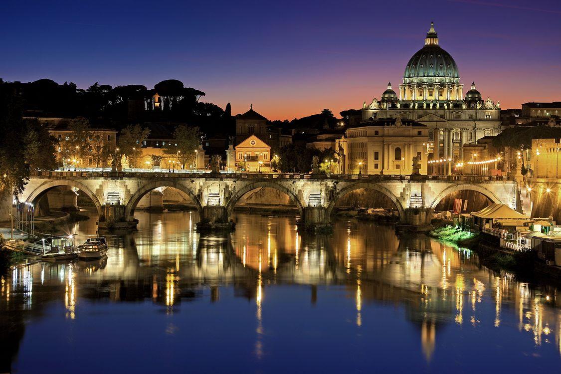 Фото бесплатно рим, vatican, город, италия, тибр, ватикан, собор святого петра - на рабочий стол