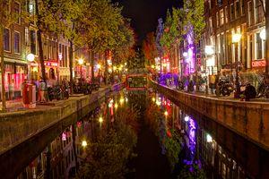 Фото бесплатно Амстердам, Нидерланды город, канал