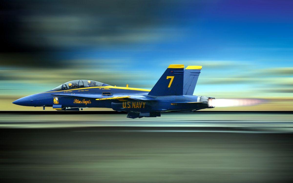 Фото бесплатно Ангелы, голубой, истребитель - на рабочий стол