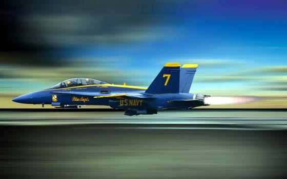 Фото бесплатно Ангелы, голубой, истребитель
