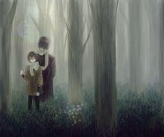 Заставки аниме мальчик, лес, воздушный шар