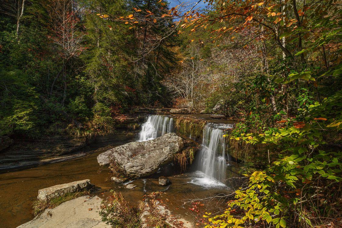 Обои Upper Greeter, Falls Tennessee State Park, водопад картинки на телефон