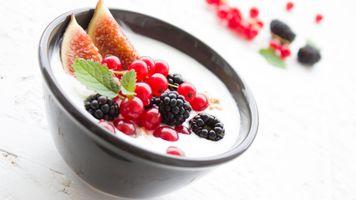 Заставки ягоды, йогурт, фрукты