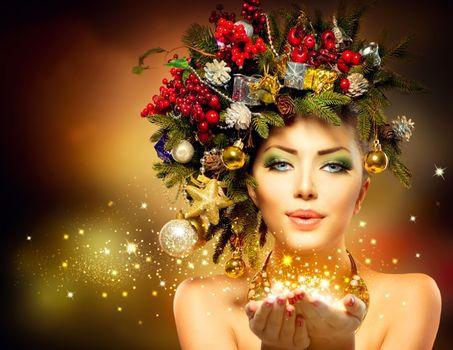 Фото бесплатно красивый макияж, волосы, венок