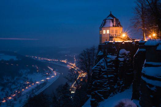Фото бесплатно Крепость к nigstein, пейзаж, освещение