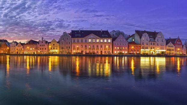 Photo free Landshut, old town, Isar