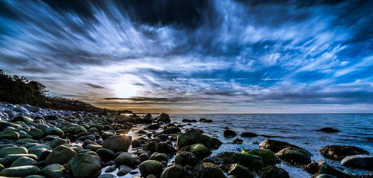 Заставки seashore,beach,sky,cloud,panoramic