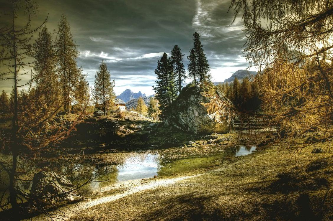 Итальянский пейзаж · бесплатная заставка