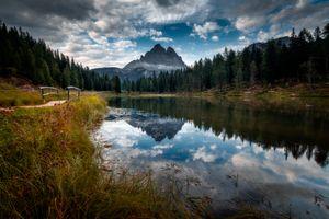 Фото бесплатно пейзаж, облака, гора