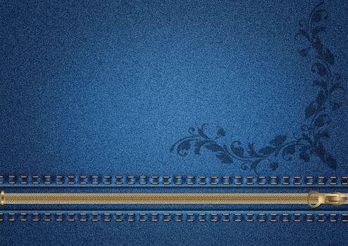 Фото бесплатно материал, джинса, джинсовая ткань, молния, текстура