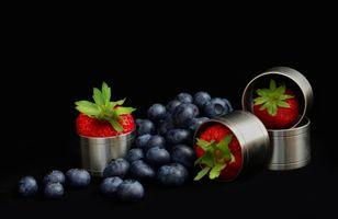 Бесплатные фото ягоды,клубника,черника