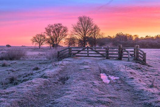 Фото бесплатно небо, мороз, закат