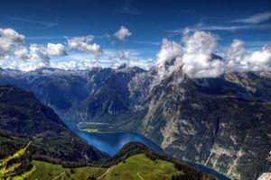 Фото бесплатно пейзаж, высота, река