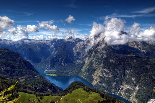 Заставки пейзаж, высота, река