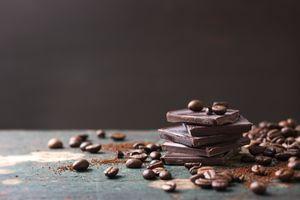 Фото бесплатно шоколад, кофейные зерна, плитка