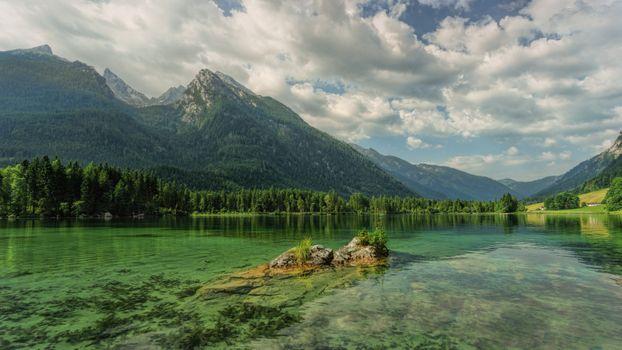 Бесплатные фото Hintersee,озеро,облака,сельская местность,отражение,Bavaria,горы,скалы,деревья,пейзаж,bergsee,берхтесгаден