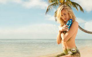Бесплатные фото yvonne strahovski,модель,ню,блондинка,море,пляж,пальма