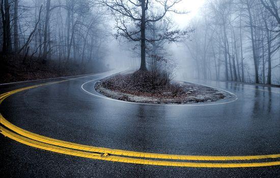 Фото бесплатно дорога, пейзаж, крутой поворот