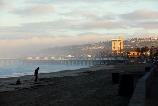 Бесплатные фото Город,Рассвет,море,сан-диего