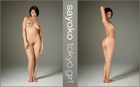 Бесплатные фото Sayoko,ню,азиатка,миниатюрная,попка,сиськи,бритую киску,половые губы,киска,коллаж
