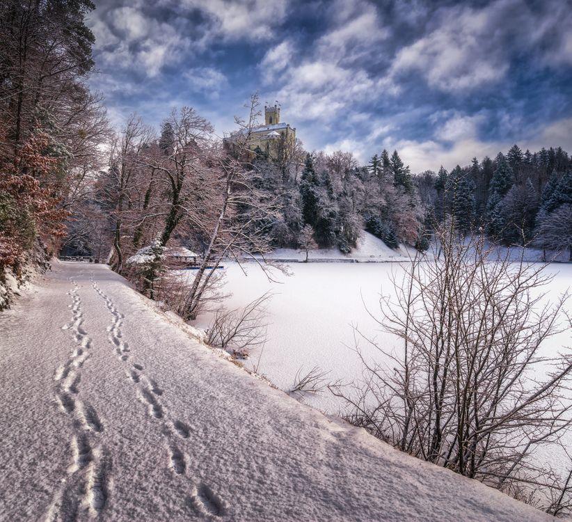 Фото бесплатно Хорватия зимой, замок Тракошчане, Хорватия - на рабочий стол