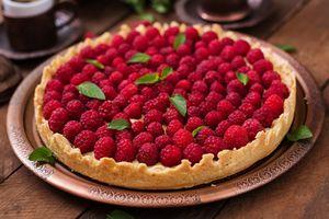 Фото бесплатно десерт, выпечка, пирог, ягоды, малина