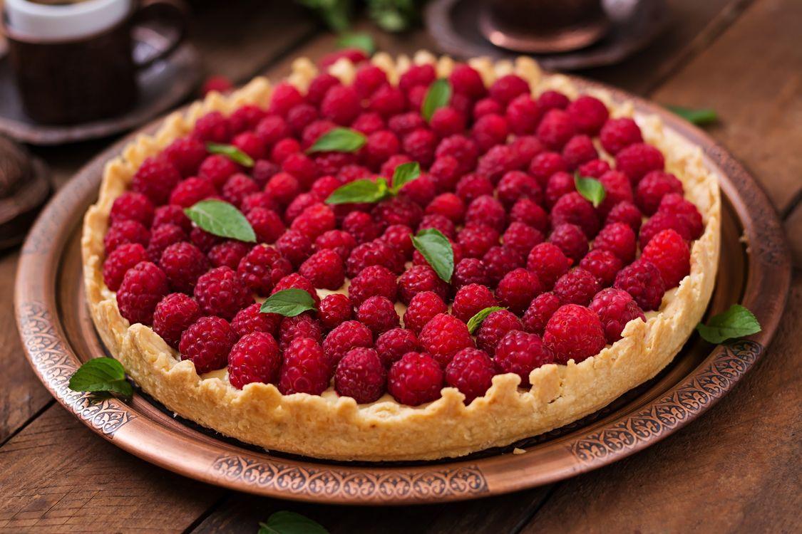 Фото бесплатно десерт, выпечка, пирог, ягоды, малина, еда