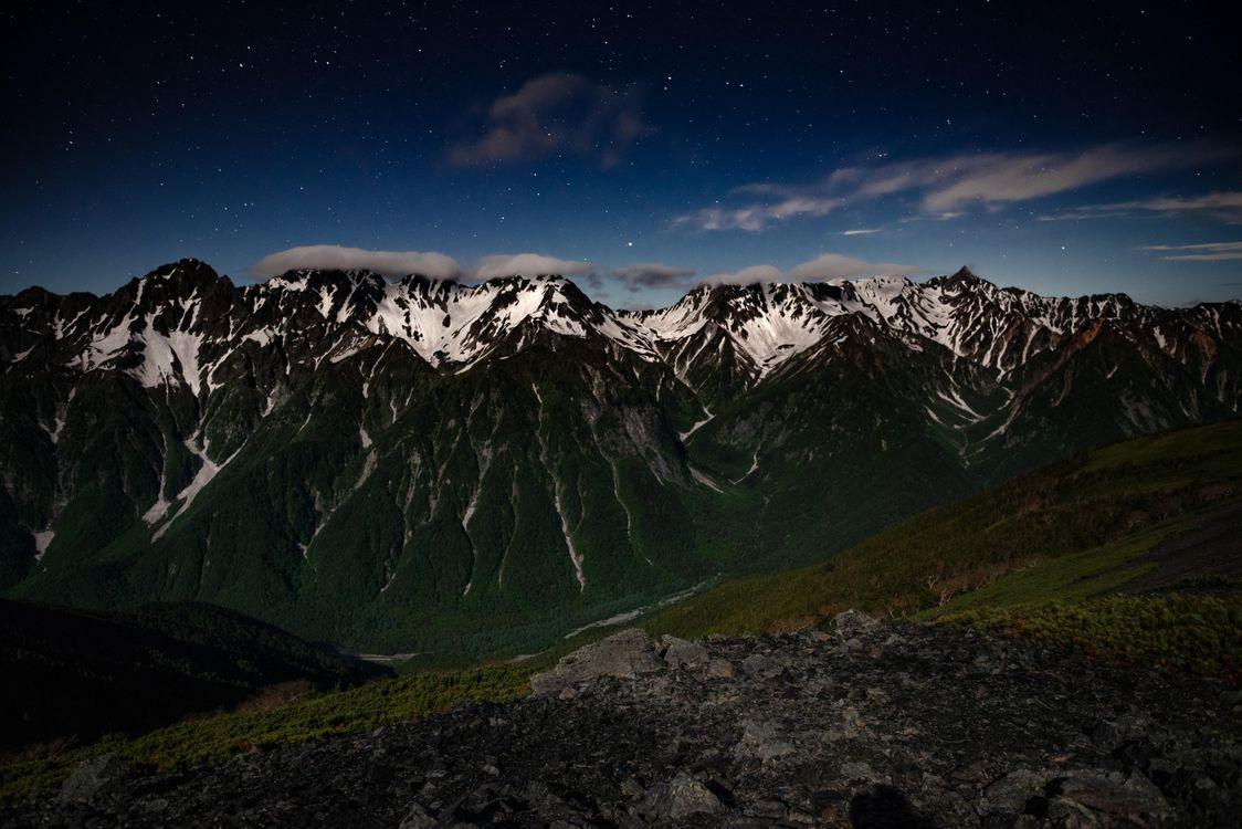 Горный хребет и облака · бесплатное фото
