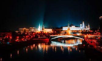 Бесплатные фото Москва,Кремль,Россия,канал,Москва-река,ночь,свечение