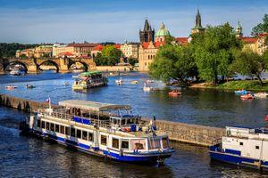 Фото бесплатно Влтава, Пражский град, Прага